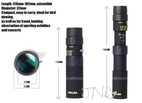 防災におすすめ単眼鏡・NIKULA 10-30倍25 ズーム単眼鏡 HD ポータブルハイパワーナイトビジョン