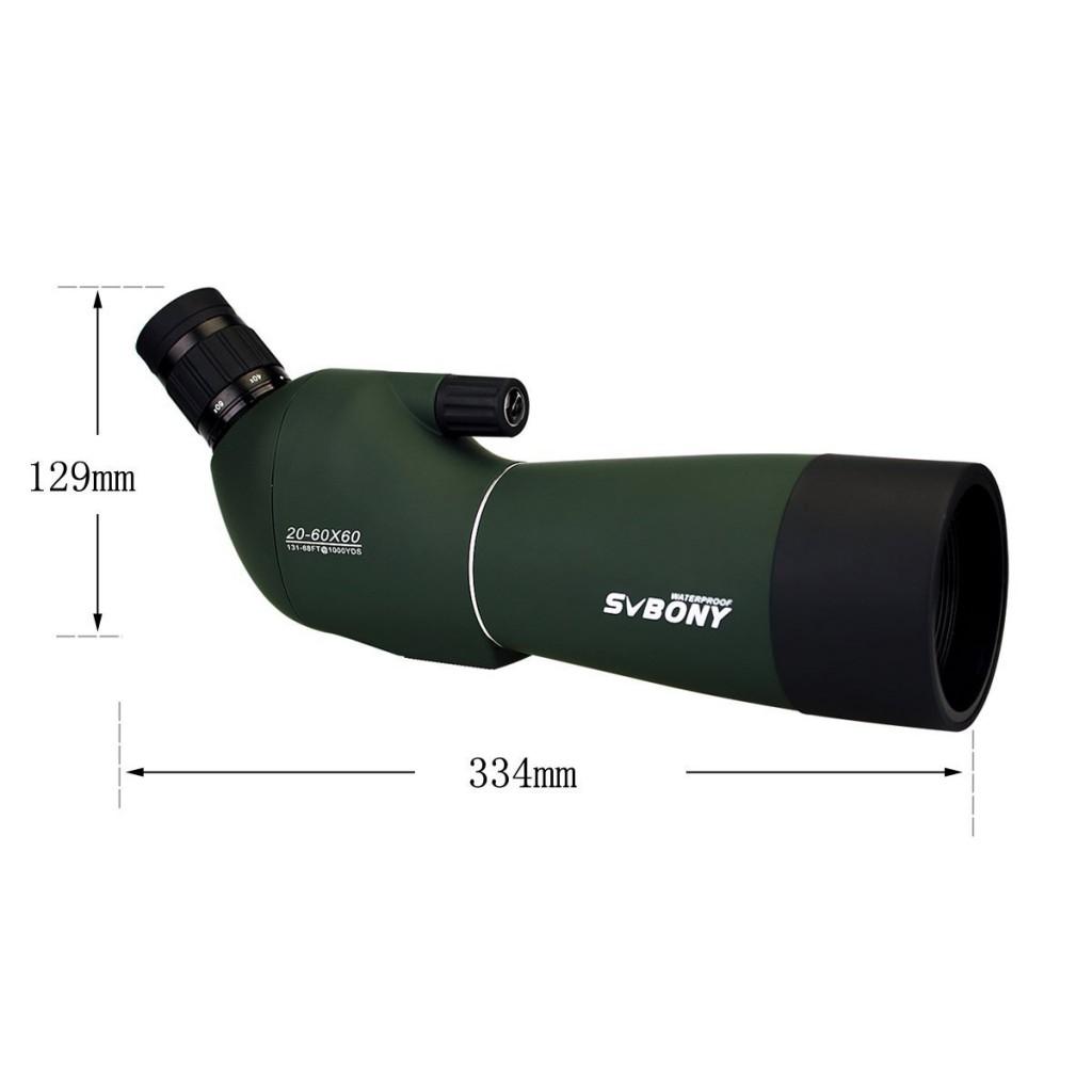 20~60倍のおすすめコンパクトフィールドスコープ SVBONY・防水仕様・三脚付き